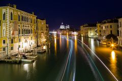 Venice architecture at night Stock Photos