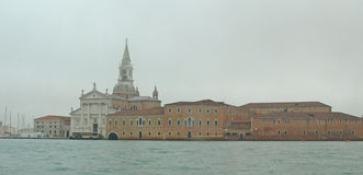Venice arrival 4. View from over to the Redentore from water taxi stock photo