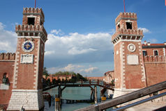 Venice Arsenal Royalty Free Stock Images