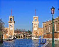 Venice Arsenal entrance from the city Royalty Free Stock Photography