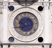 Venice Astronomical Clock Stock Photo