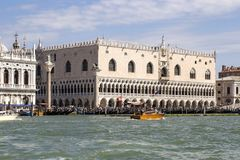Venice attractions: view of the San Marco Square. From the sea. Venice, Italy 2017-08-22 Stock Images