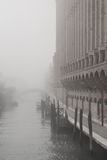 Venice in Autumn. With fog Stock Photography