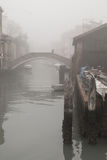 Venice in Autumn. With fog Stock Photo