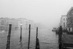 Venice in Autumn. With fog Stock Images