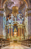 Venice - baroque church Santa Maria degli Scalzi. Royalty Free Stock Image