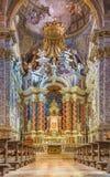 Venice - baroque church Santa Maria degli Scalzi. Royalty Free Stock Image
