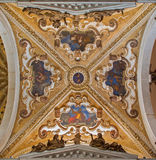 Venice - Baroque cupola of side chapel in Basilica di san Giovanni e Paolo church. VENICE, ITALY - MARCH 12, 2014: Baroque cupola of side chapel in Basilica di Stock Image