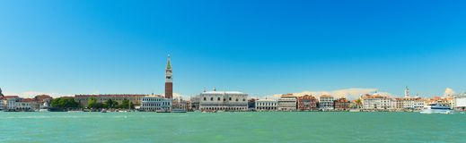 Doge`s Palace on San Marco square,Venice,Italy. Doge`s Palace on San Marco square in sunny weather in spring,Venice,Italy royalty free stock photo