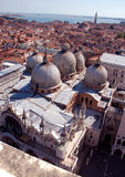 Venice - Basilica San Marco. View from top of a tower Royalty Free Stock Images