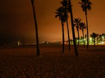 Venice beach. By night, L.A., California royalty free stock images