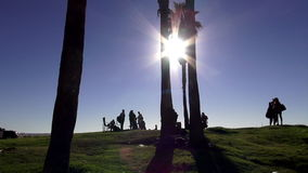 Venice Beach in the afternoon LOS ANGELES stock footage