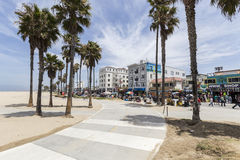 Venice Beach Bike Path Royalty Free Stock Photo
