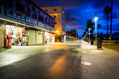 The Venice Beach Boardwalk at night, in Venice Beach  Royalty Free Stock Image