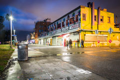 The Venice Beach Boardwalk at night, in Venice Beach  Royalty Free Stock Images