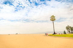 Venice Beach in a bright sunny day - Los Angeles seaside Royalty Free Stock Photo