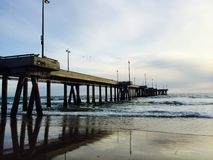 Venice beach california. Venice beach pier walk area Royalty Free Stock Image