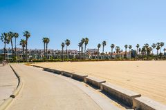 Venice Beach area in Los Angeles stock image