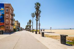 Beautiful Venice Beach area in Los Angeles royalty free stock photography