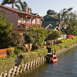 Venice Beach Canal Houses Royalty Free Stock Photography