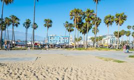 Venice Beach, the coast of the Pacific Ocean. Tourist and leisure recreation center in Los Angeles, California royalty free stock image