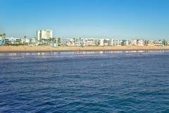 Venice Beach Coastline Reflections Stock Image
