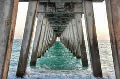 Venice Beach Florida Pier. At Sharkys On The Pier stock photo