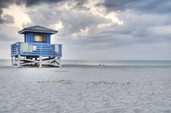 Venice Beach HDR. With Life Guard Station and Sand Royalty Free Stock Images