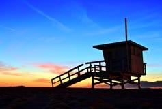 Venice Beach Lifeguard Stand at Sunset Stock Photography