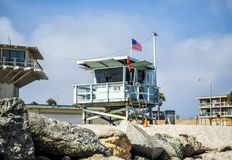 Venice Beach Lifeguard Tower - Venice Beach, Los Angeles, LA, California, CA Royalty Free Stock Images