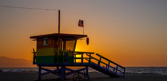 Lifeguard in Venice Beach, Los Angeles. Royalty Free Stock Photography