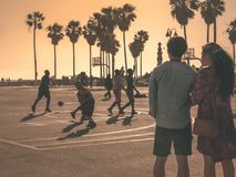 Venice Beach Love Story stockbilder