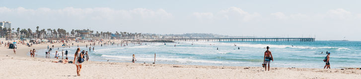 Venice beach panorama in Los Angeles USA Stock Photo