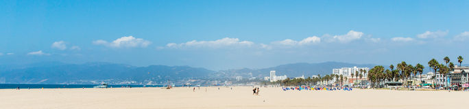 Venice beach panorama in Los Angeles USA Stock Photos