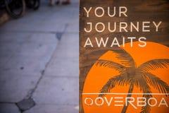 Venice Beach Path. Journey Await Sign Beach Walk Stock Photos