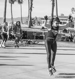 Venice Beach: Roller Dance 4 Stock Photos
