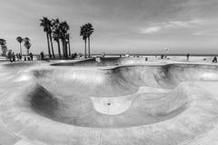 Venice Beach Skate Board Park Black and White Royalty Free Stock Photo
