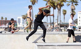 Venice Beach Skate Park in CA Stock Images
