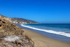 Venice Beach south of the Venice Pier in southern California, USA royalty free stock photo