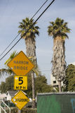 Venice Beach. Street sign marking in Venice Beach, California Royalty Free Stock Image