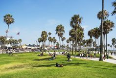 Venice Beach, summer day - on the 12th August 2017 - Venice Beach, Los Angeles, LA, California, CA Royalty Free Stock Image