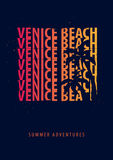 Venice Beach Summer graphic with palms. T-shirt design and print. Stock Photo