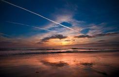 Venice beach sunset Stock Image