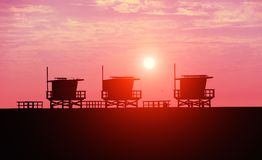 Venice Beach at sunset Royalty Free Stock Image