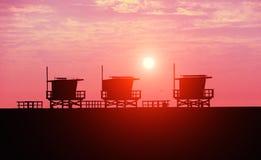Venice Beach at sunset Royalty Free Stock Image