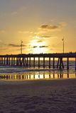 Venice Beach Sunset. A beautiful summer sunset in Venice Beach, California Royalty Free Stock Photo