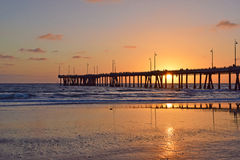 Venice Beach Sunset Royalty Free Stock Photo