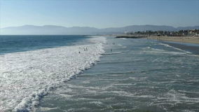 Venice Beach Surf Zooming Time Lapse stock video footage