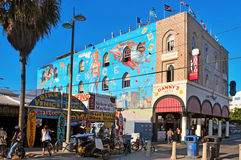 Venice Beach, United States. VENICE, US - OCTOBER 17: Famous mural in Venice Beach on October 17, 2011 in Venice, US. Rip Cronk, the artist, painted some of the Stock Photography