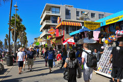 Venice Beach, United States. VENICE, US - OCTOBER 16: Ocean Front Walk of Venice Beach on October 16, 2011 in Venice, US. This boardwalk, 2.5 kilometer long, is royalty free stock photography